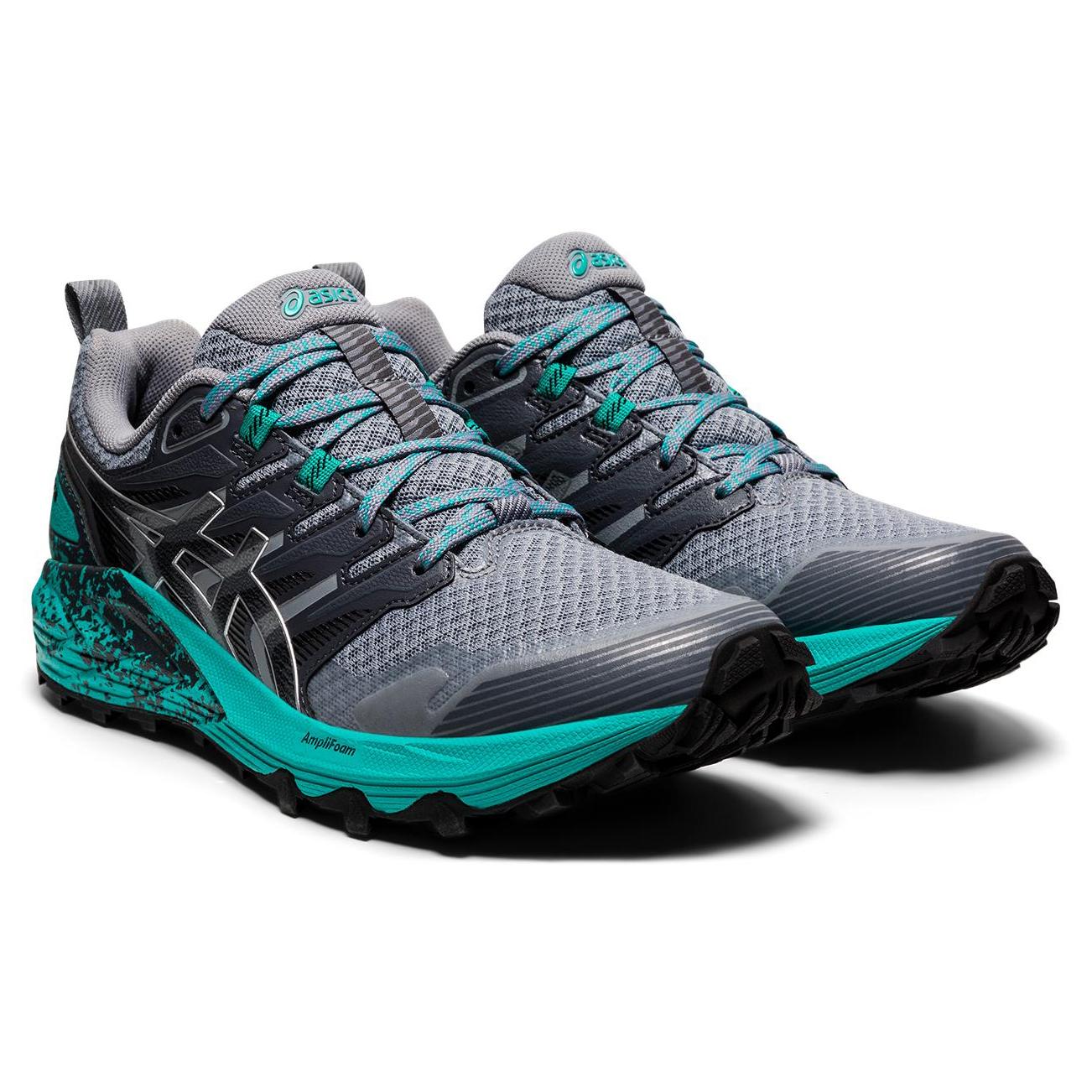 Asics - Women's Gel-Trabuco Terra - Trail running shoes - Sheet Rock / Pure Silver | 6 (US)