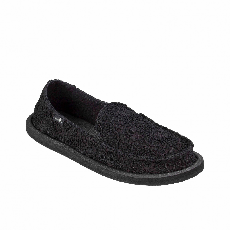 Sanuk - Women's Donna Crochet - Sneaker Black / Black