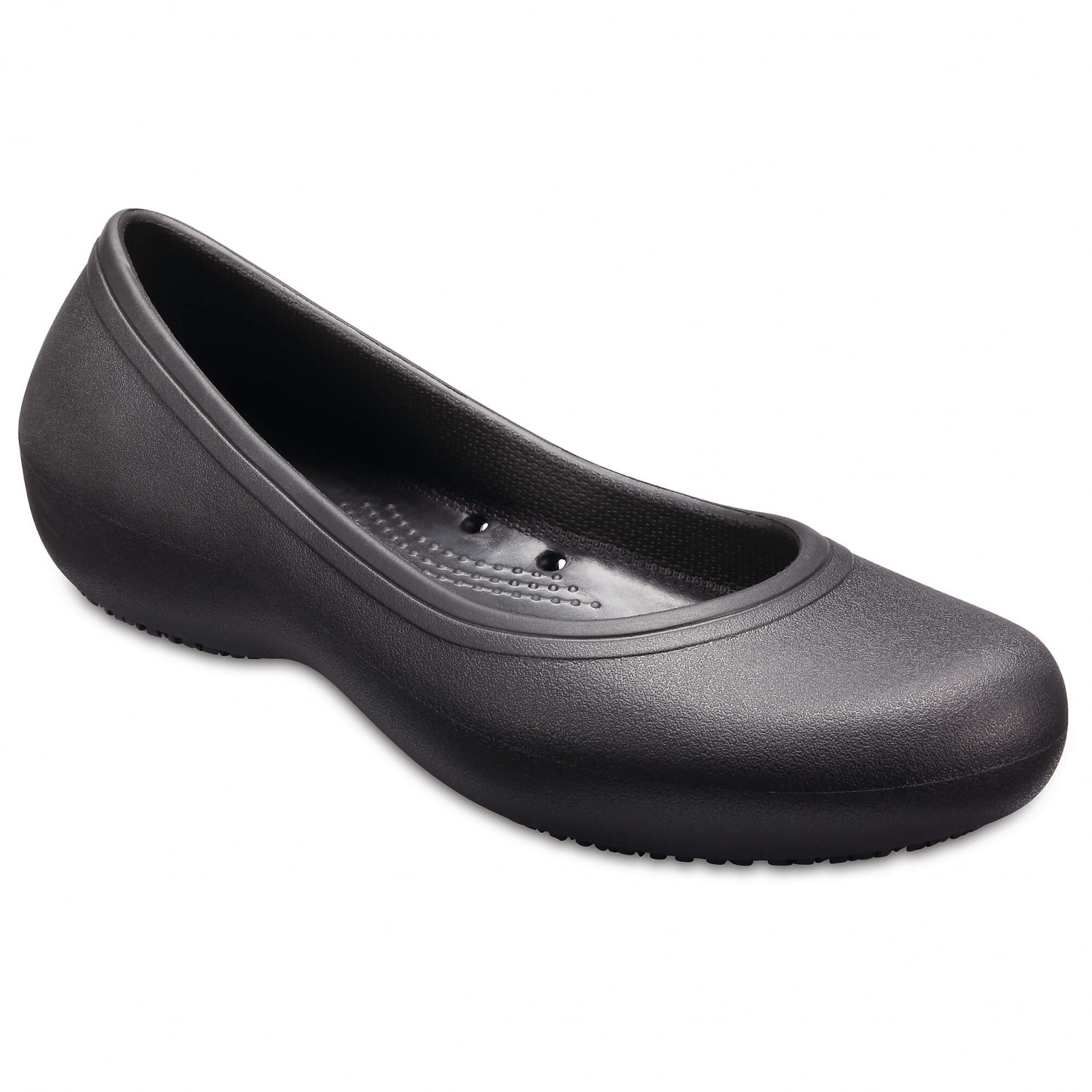 Crocs Women's Crocs at Work Flat Sneaker Black | W10 (US)