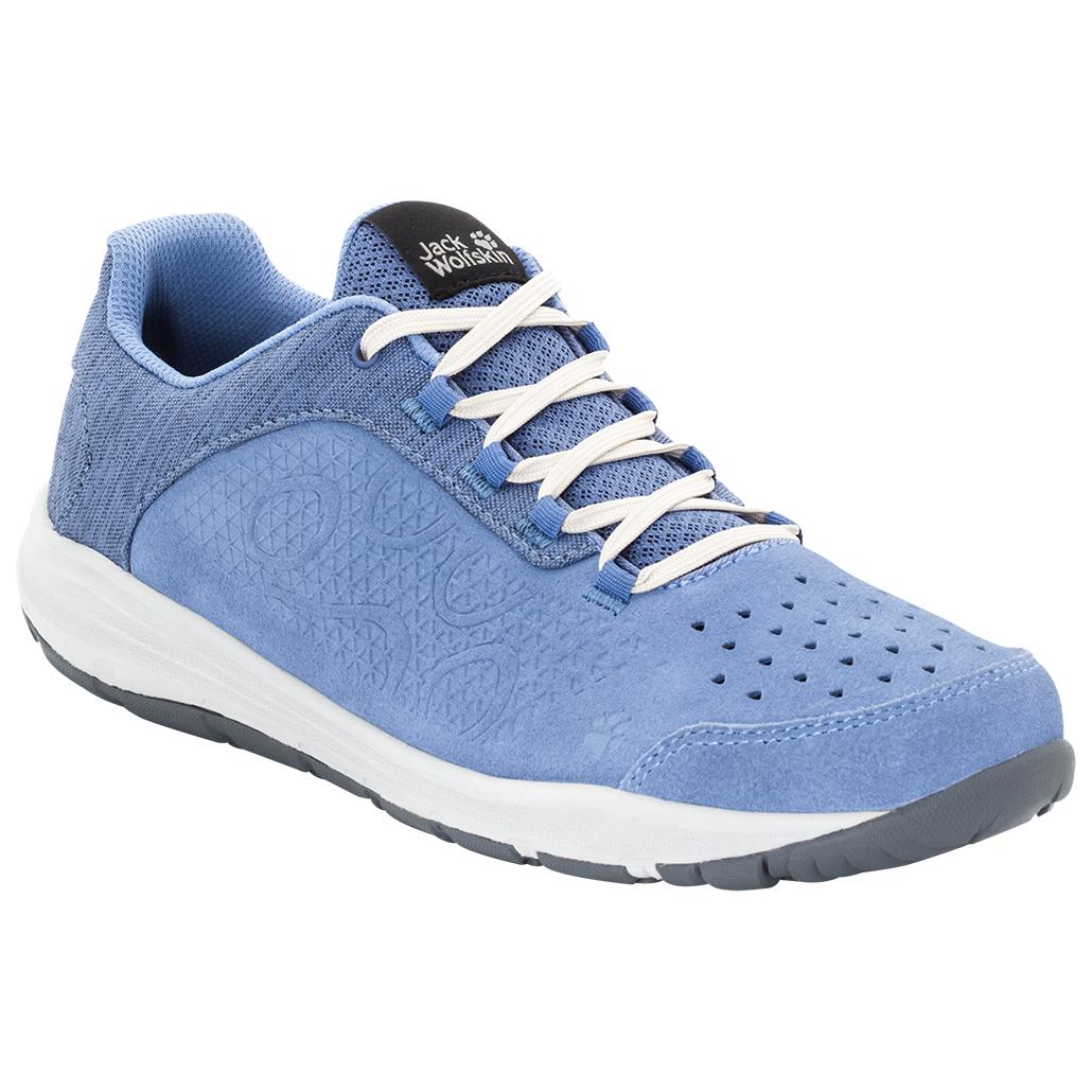 Jack Wolfskin Seven Wonders Low Blau, Damen EU 40.5 - Farbe Dusk Blue Damen Dusk Blue, Größe 40.5 - Blau