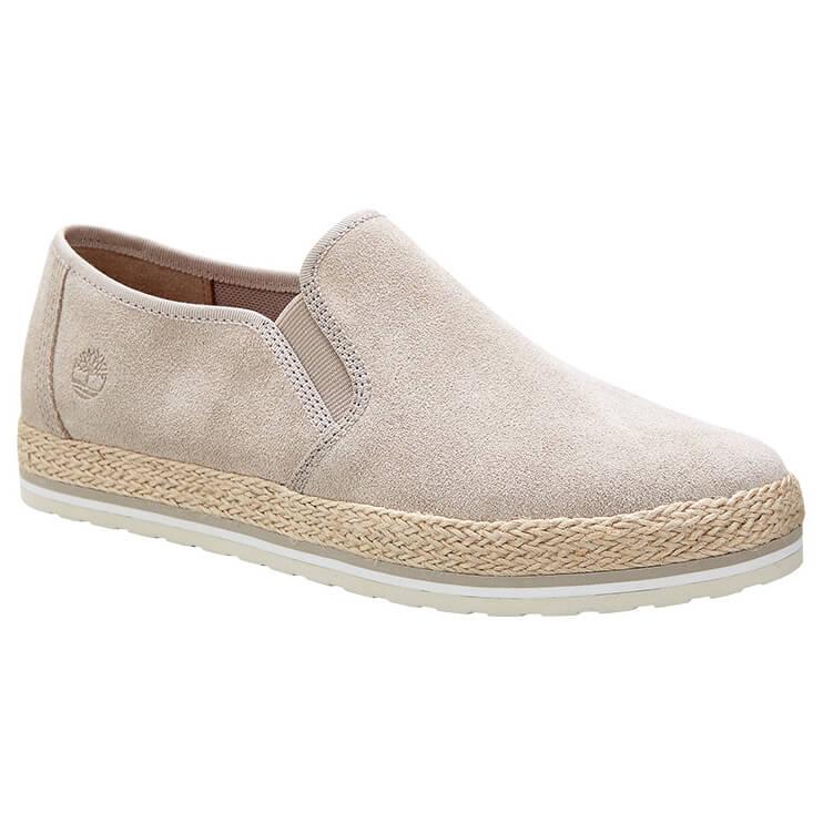 Timberland Eivissa Sea Slip-On(Women's) -Light Beige Leather Clearance Sale Online crz7621