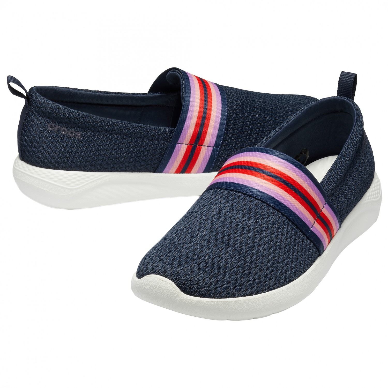 a14f086472879 Crocs - Women's Literide Mesh Slip On - Sneakers - Black / White | W10 (US)