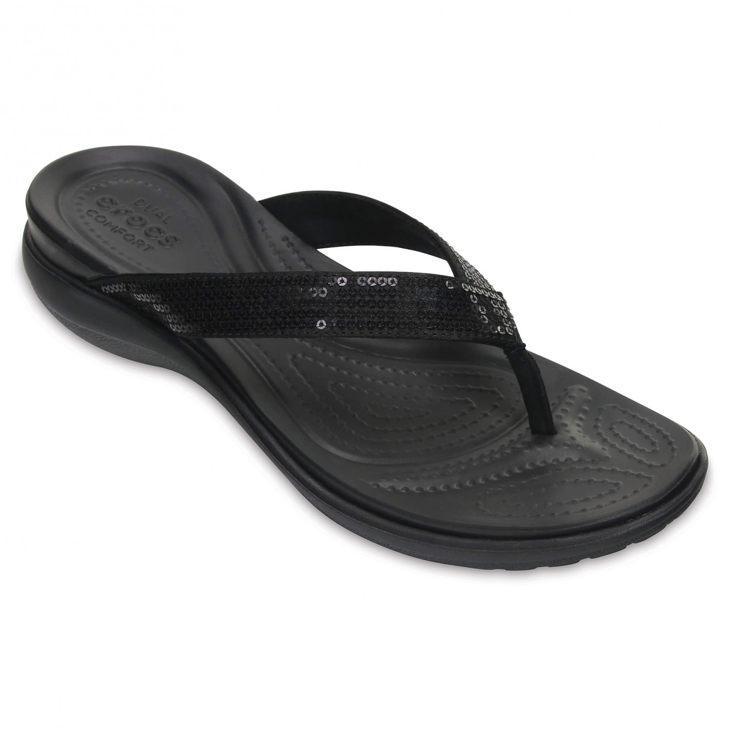 Crocs - Women's Capri V Sequin - Outdoorsandalen Black