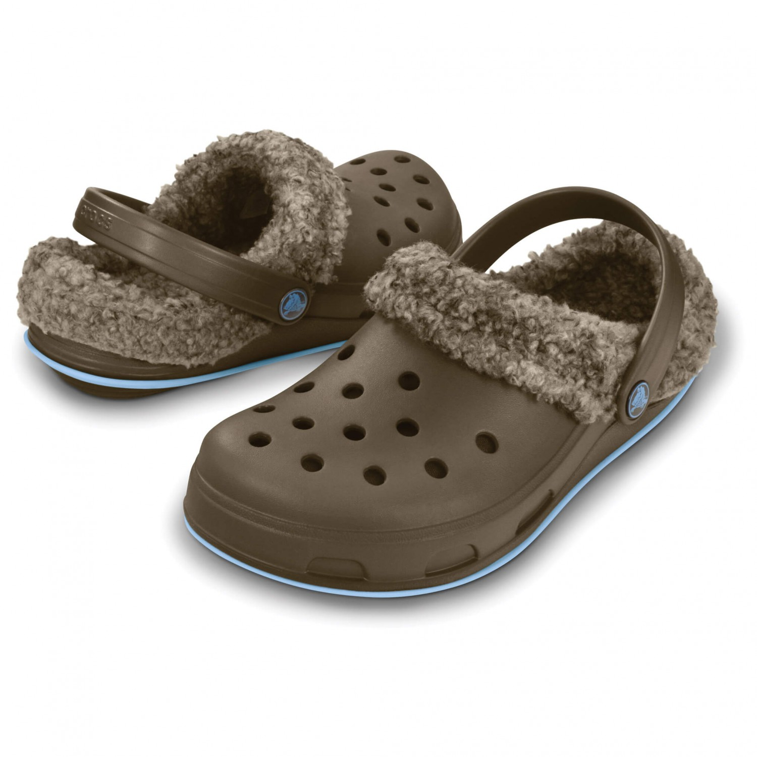 crocs classic lined clog unisex erwachsene clogs rot pepper silver 41 42 eu. Black Bedroom Furniture Sets. Home Design Ideas