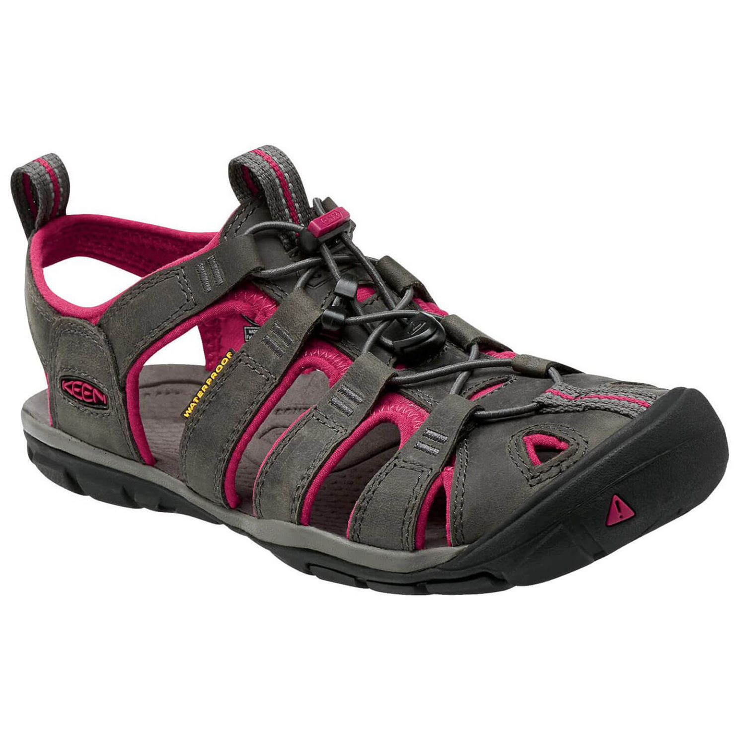 Keen - Women's Clearwater CNX Leather - Sandalen Magnet / Sangria