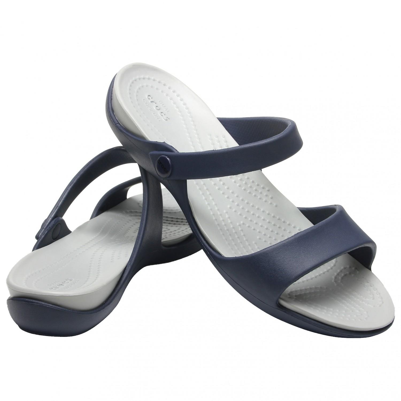 w magazynie ogromna zniżka w magazynie Crocs - Women's Cleo V - Sandals - Navy / Light Grey | W6 (US)