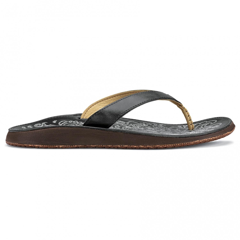 Olukai Women's Paniolo Sandaler Charcoal Charcoal   6 (US)