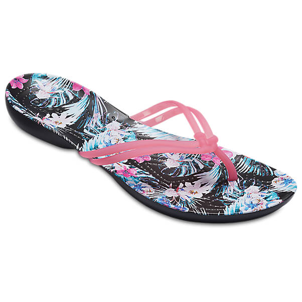 Crocs Womens Isabella Graphic Flip Flop Sandals