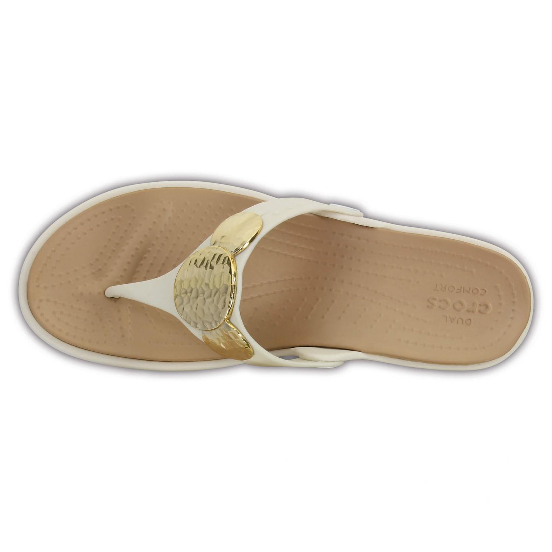 Crocs - Women's Sanrah Embellished Wedge Flip - Sandalen Gr W6 schwarz W6tikd