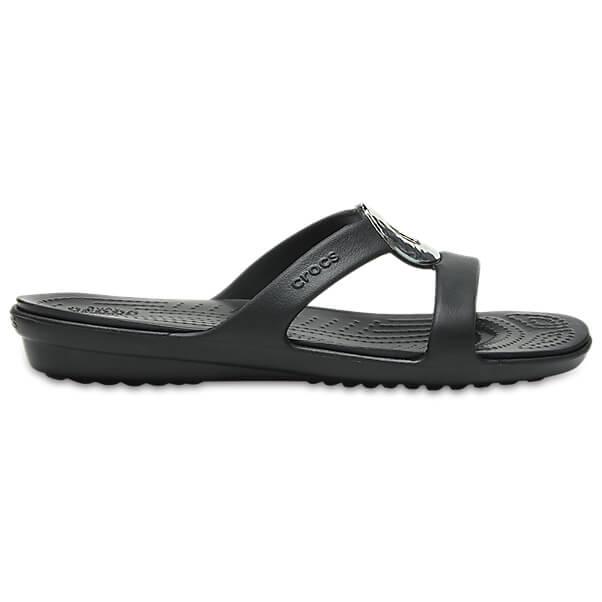 Crocs - Women's Sanrah Hamme Met Sandal - Sandalen Gr W6 schwarz FOqdI