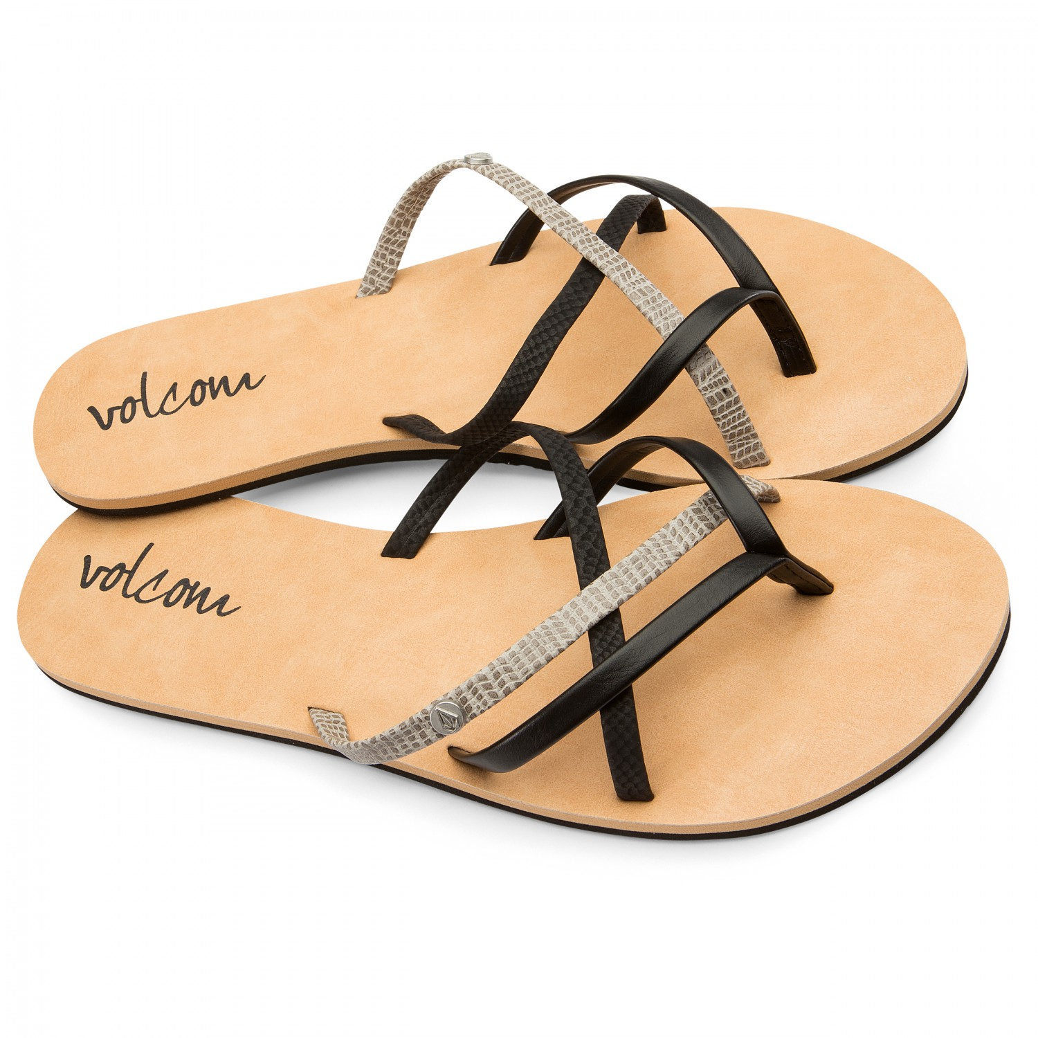 Volcom New School Sandalen Women's Brown Sandal Combo7us dxoCBe