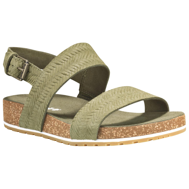 Timberland Women's Malibu Waves 2 Bands Leather Sandals