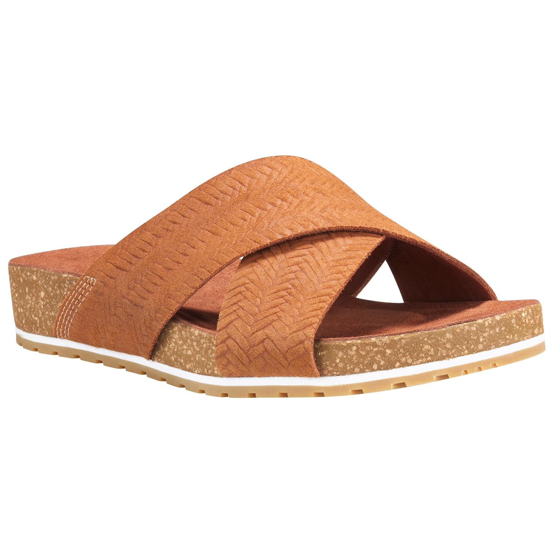 outlet cozy fresh best supplier Timberland - Women's Malibu Waves Cross Slide - Sandals - Saddle   6 (US)