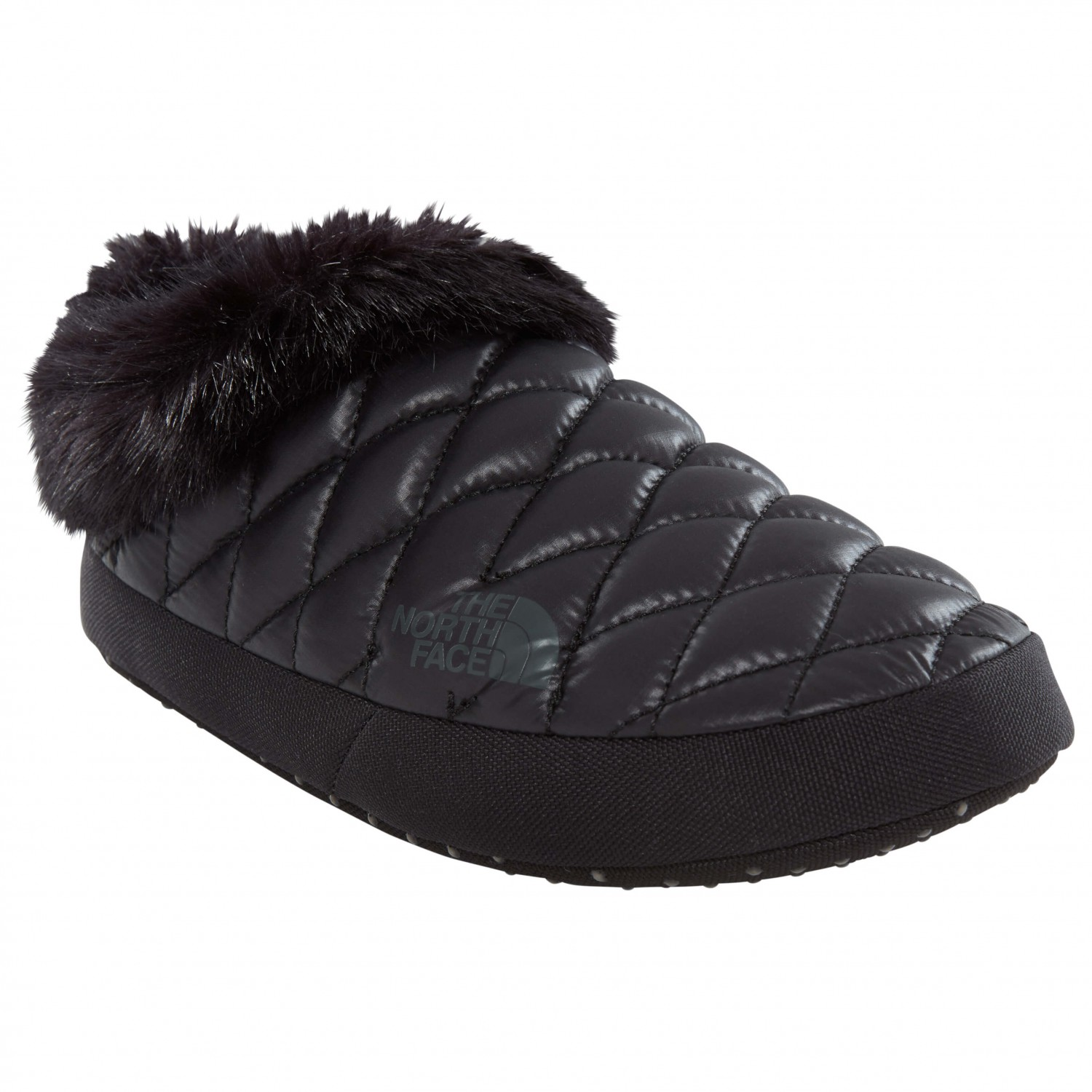 2a3b125d5 The North Face - Women's Thermoball Tent Mule Faux Fur IV - Slippers -  Shiny TNF Black / Beluga Grey | XS