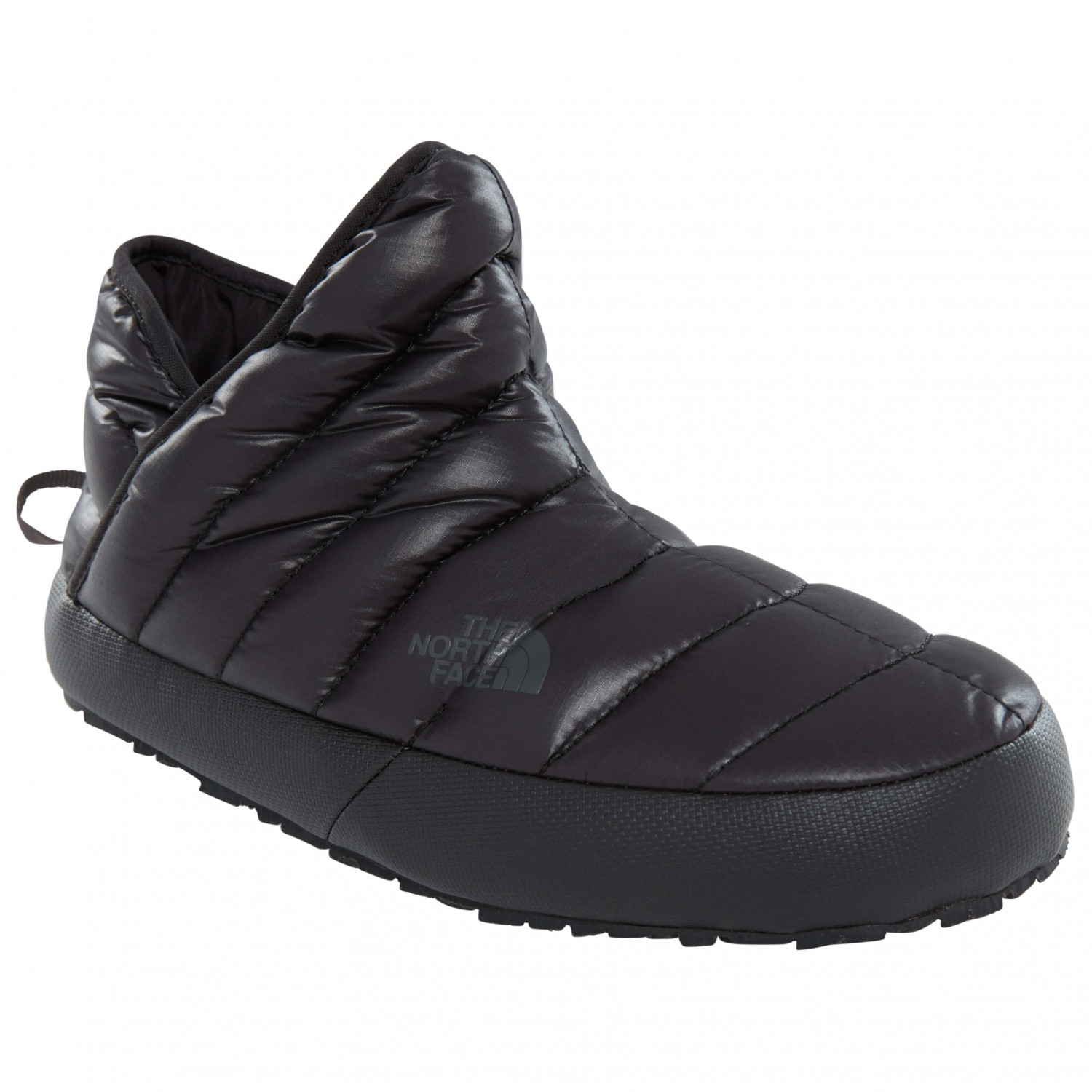 0036cbe59 The North Face - Women's Thermoball Traction Bootie - Slippers - Shiny TNF  Black / Beluga Grey | 10 (US)