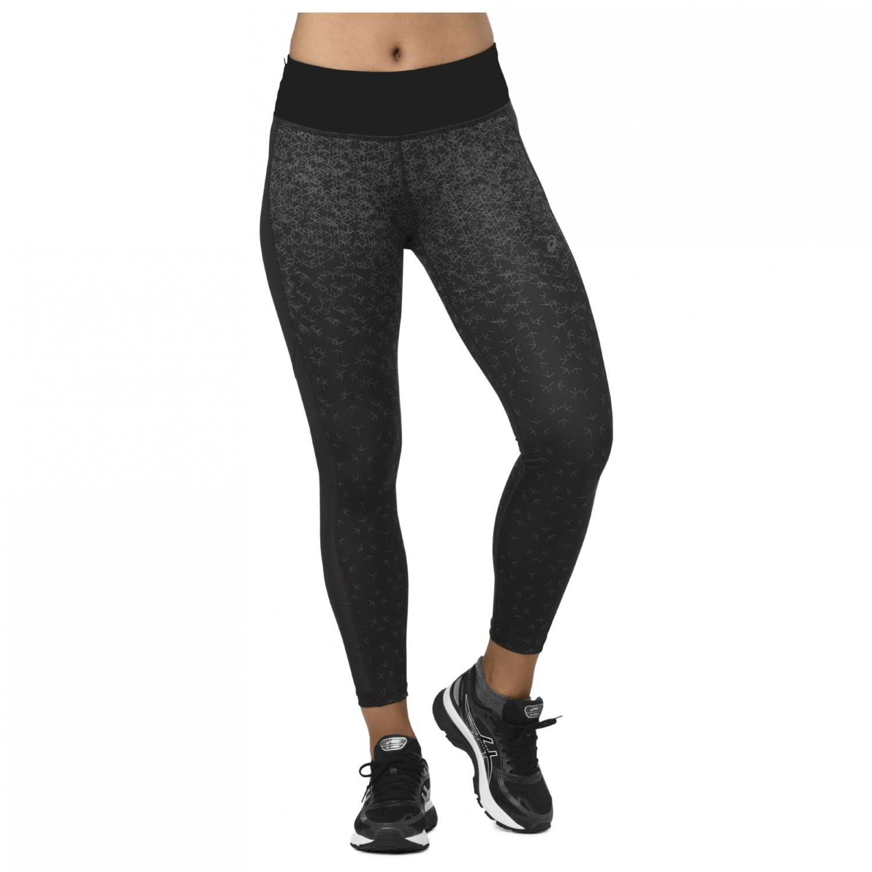 Asics Hex Aop Fade Women's De Crop Running Pantalon Tight Print BlackXs Performance iXZOTPku