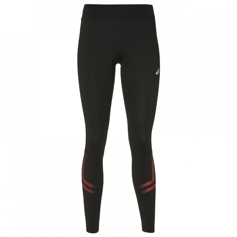 Asics Women's Silver Icon Tight Pantalón de running Performance Black Chili Flake   XS