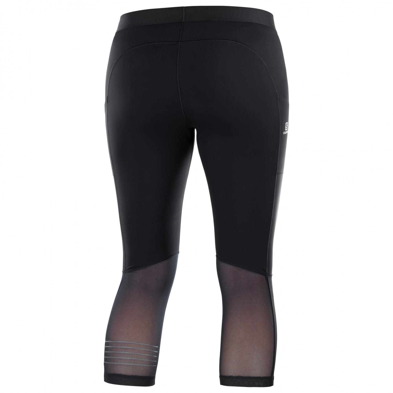 Salomon Women's Support Mid Tight Lauftights Black | XS
