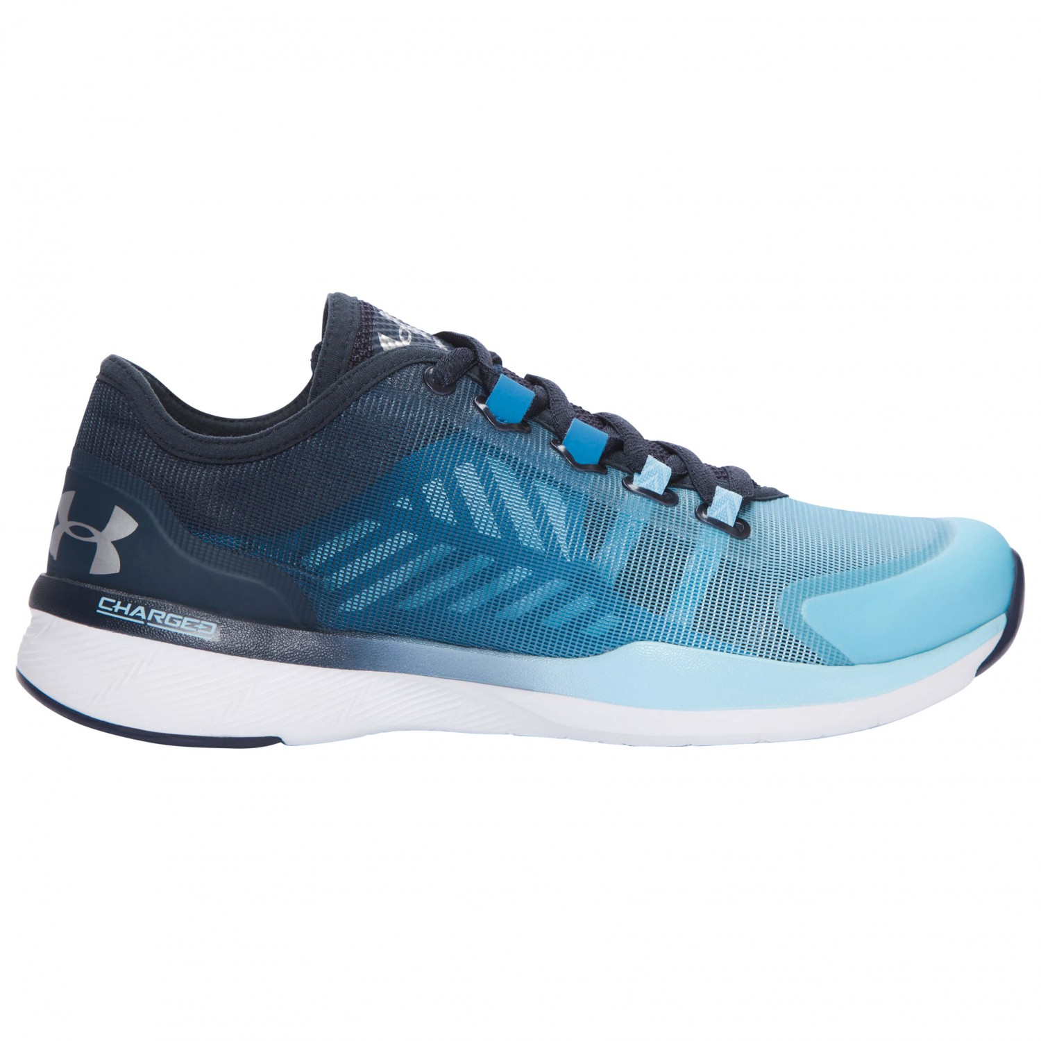 Under Armour - Women's UA Charged Push TR Seg - Fitnessschuh Chicago Blue / Blue Drift