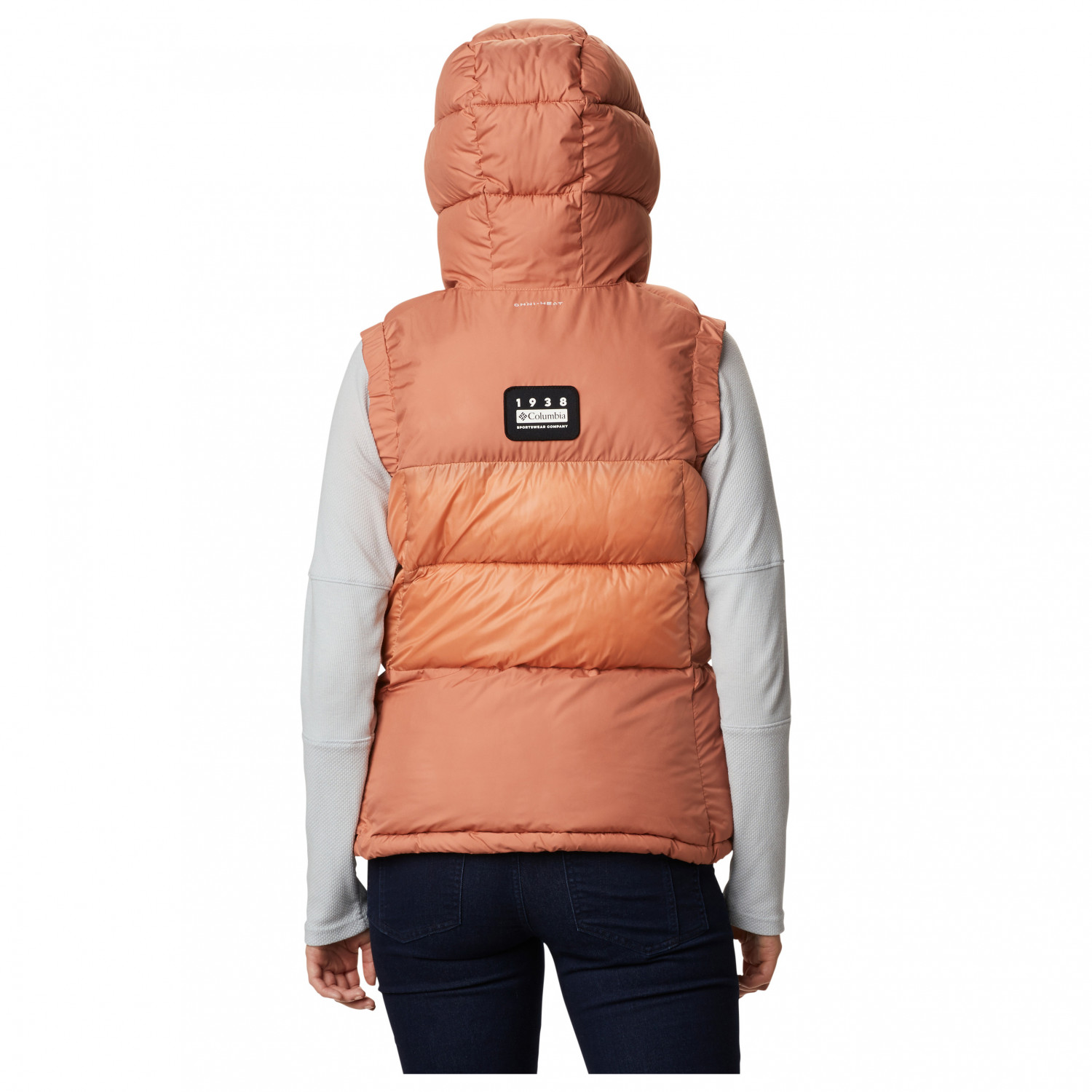 Columbia VÄST Pike Lake Vest Orange Billiga Jackor