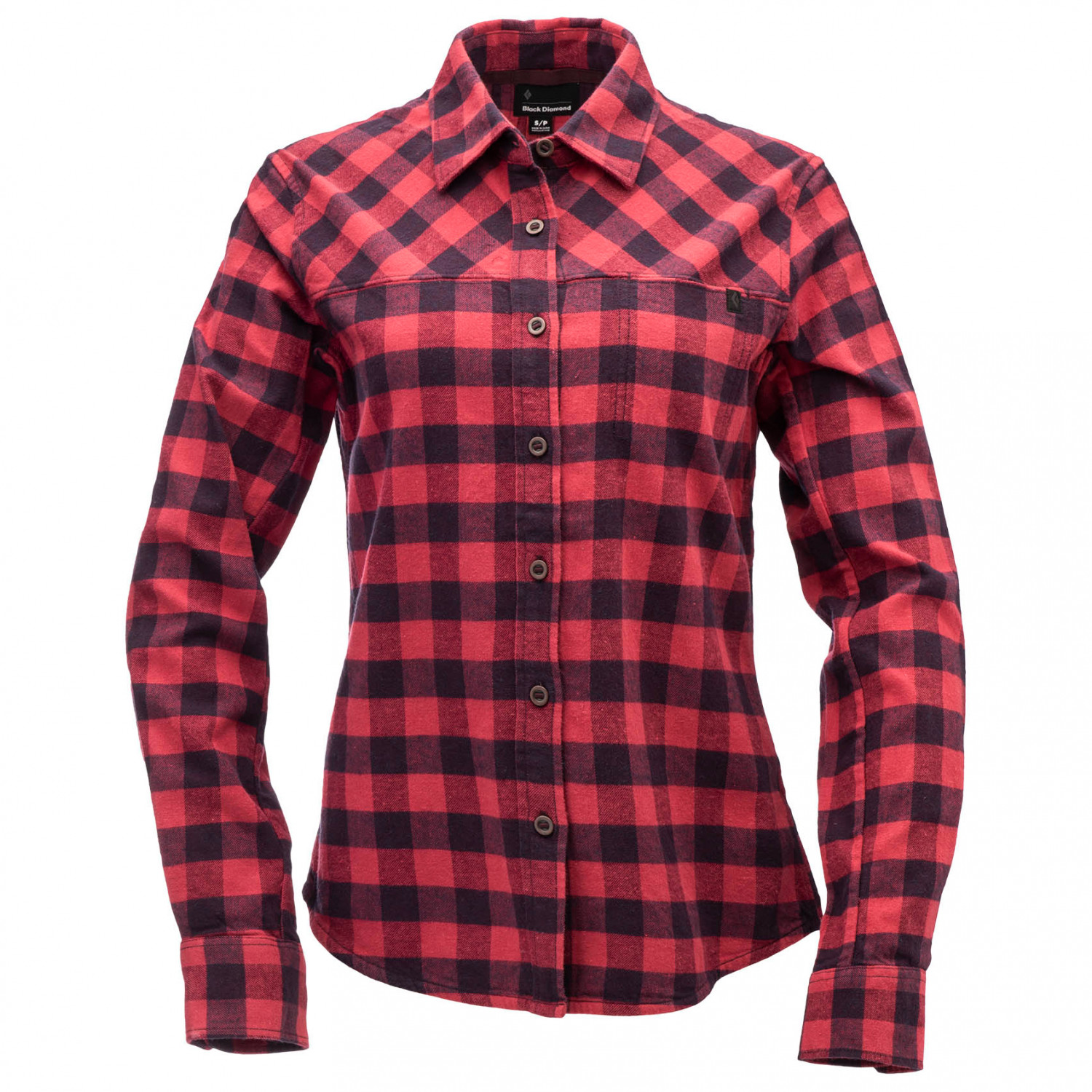 Black Diamond Women's Spotter LS Flannel Shirt Hemd Tundra Carbon Plaid | S