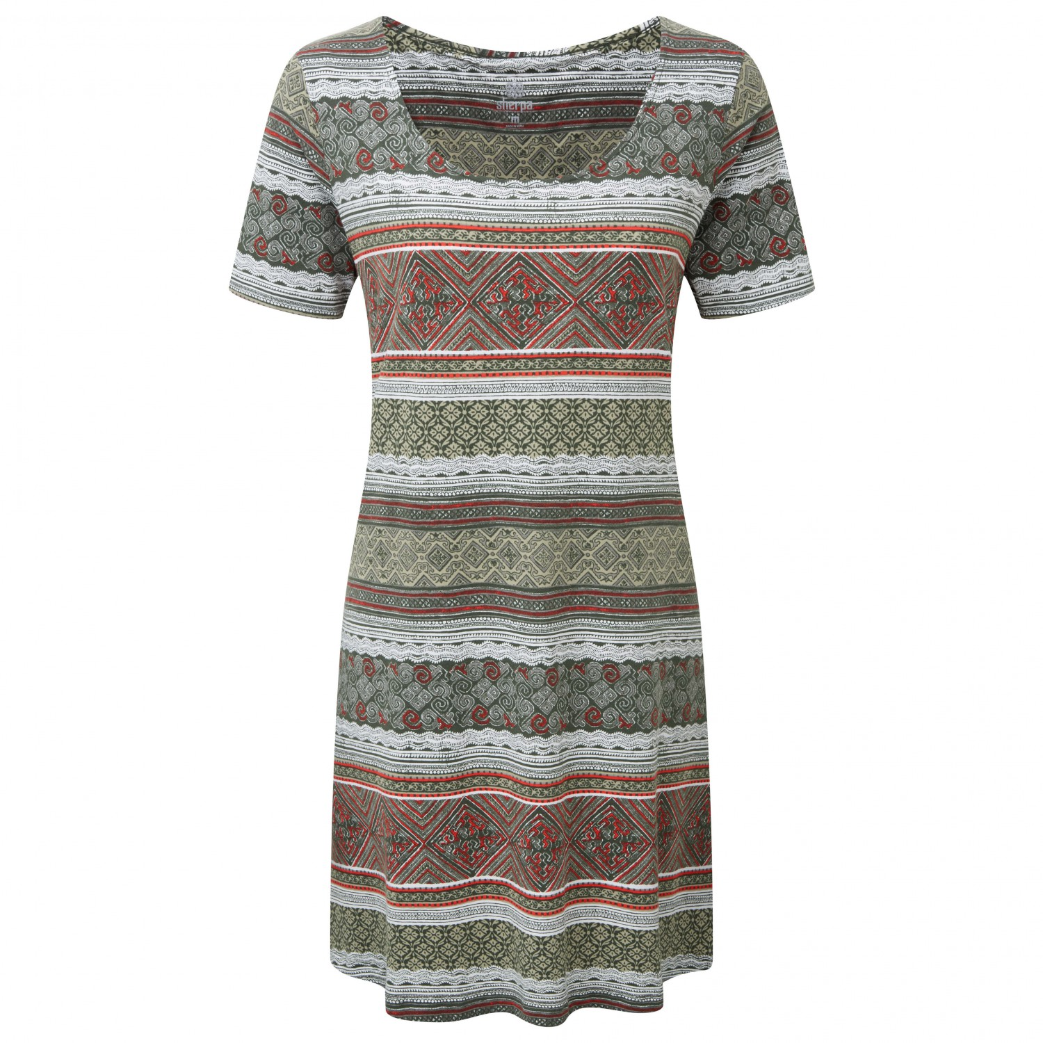 sherpa - women's kira swing dress - kleid - mewa green | xs