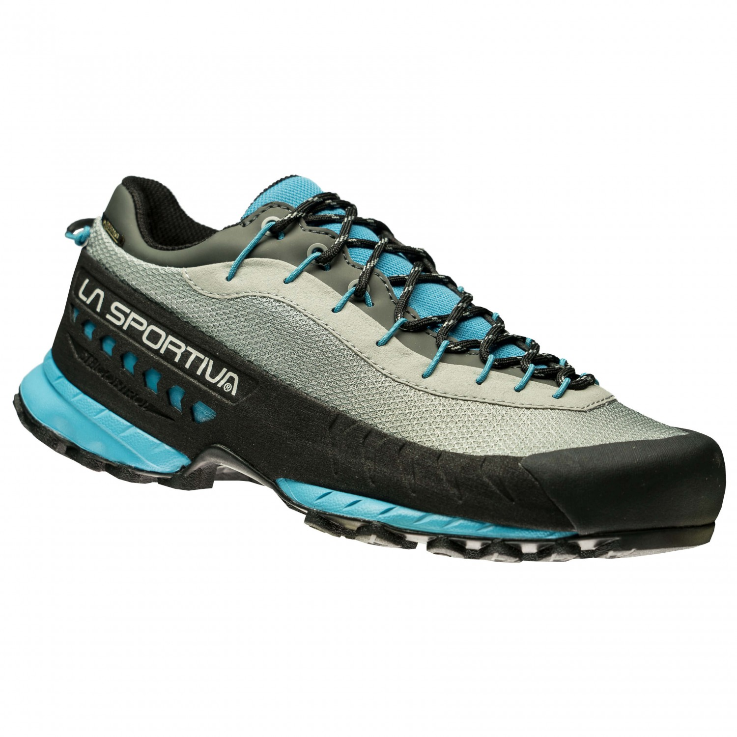 La Sportiva TX3 WOMAN GTX - Climbing shoes - grey/blue moon