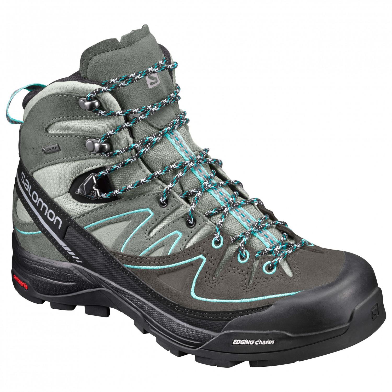 check out e3061 0e8a0 Salomon - Women's X Alp Mid Leather GTX - Scarponi da montagna - Black /  Nightshade Grey / Coral Punch   4 (UK)