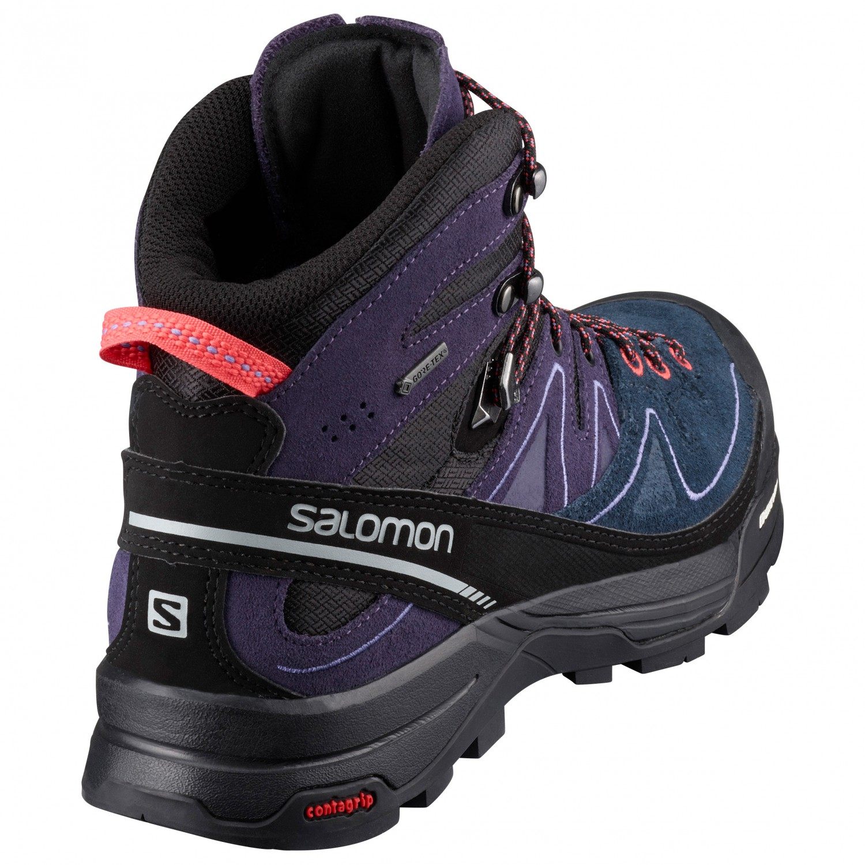 Women's Black Mid Leather Coral Chaussures Grey Punch4uk Alp De Salomon Nightshade Montagne X Gtx rodCQeWxB