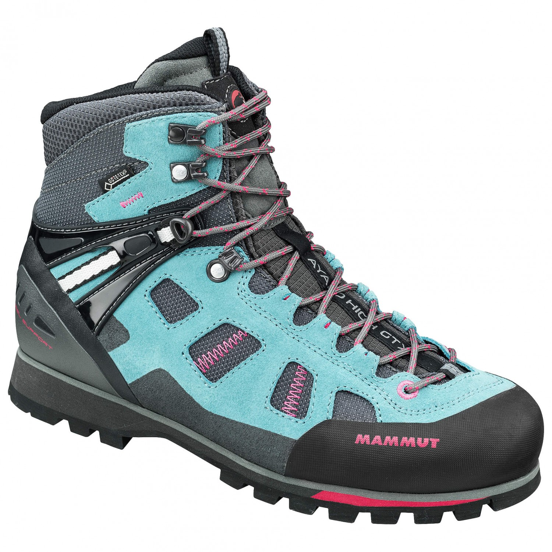 best shoes on feet images of available Mammut - Ayako High GTX Women - Approach shoes - Dark Titanium / Dark Pink  | 4 (UK)
