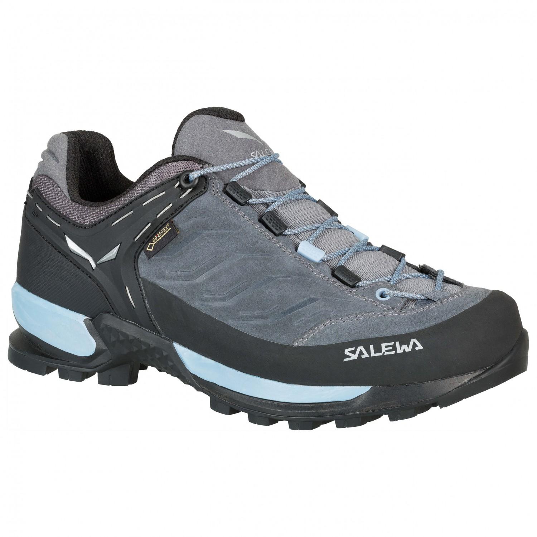 Salewa Women's MTN Trainer GTX Approach shoes Asphalt Sangria   4 (UK)
