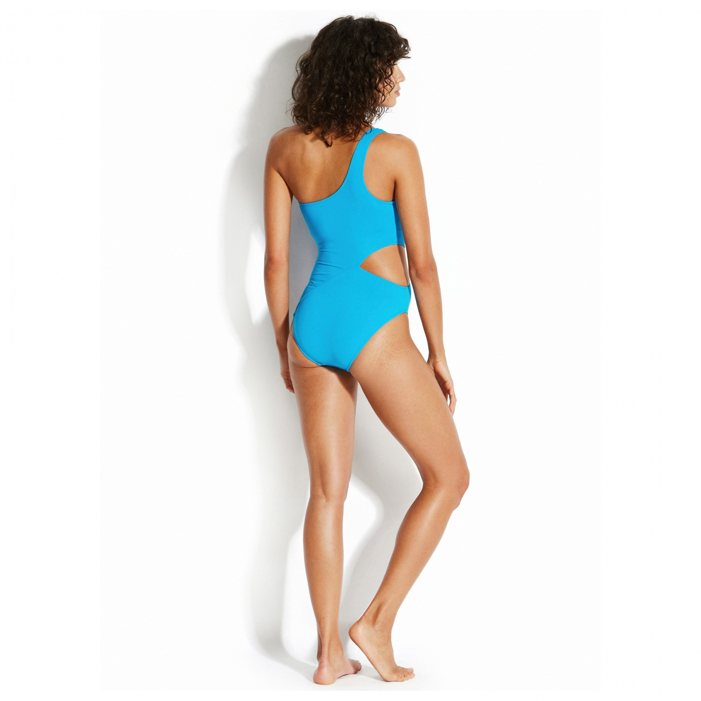 designer fashion c0a66 908c4 Seafolly - Active One Shoulder Maillot - Badeanzug - Electric Blue | 10 (UK)