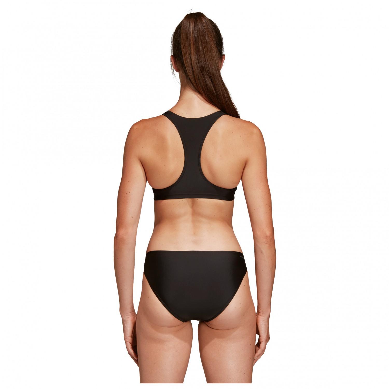 adidas Women's Performance Fit 2 Piece 3S Bikini Black | 32 (EU)