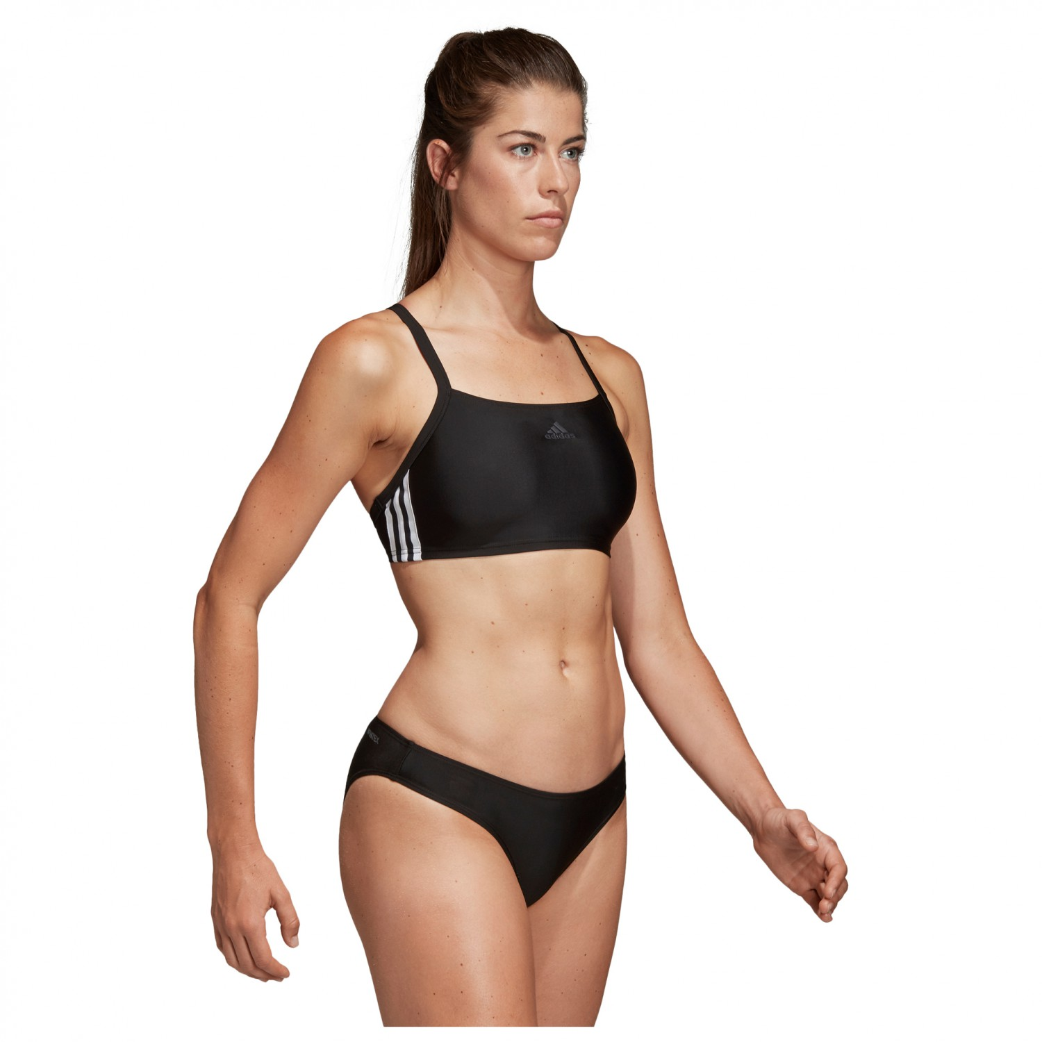 adidas Women's Performance Fit 2 Piece 3 Streifen II Bikini Black | 34 (EU)