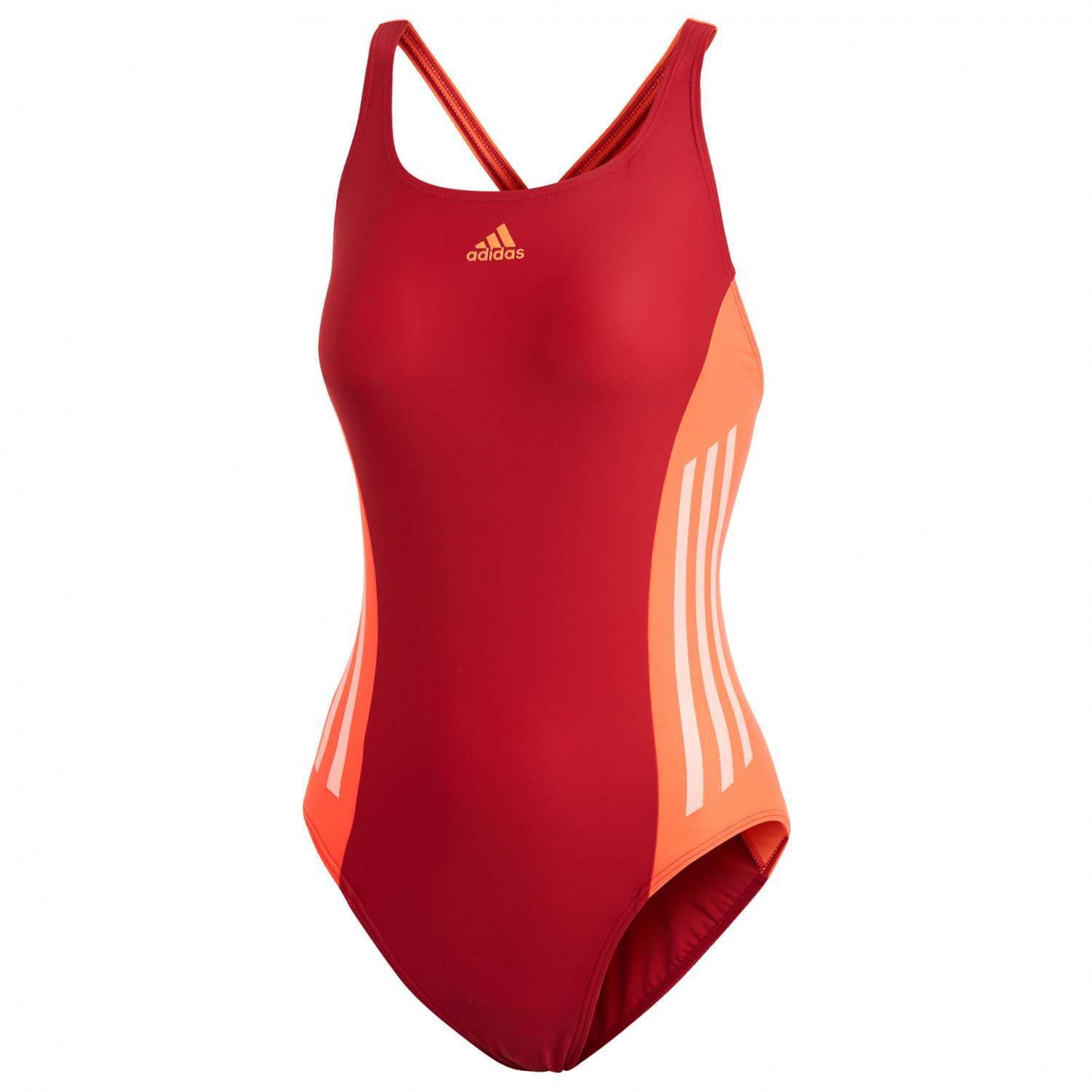 dirt cheap price reduced details for adidas - Women's Fit 1PC Colorblock - Badeanzug - Active Maroon | 34 (EU)