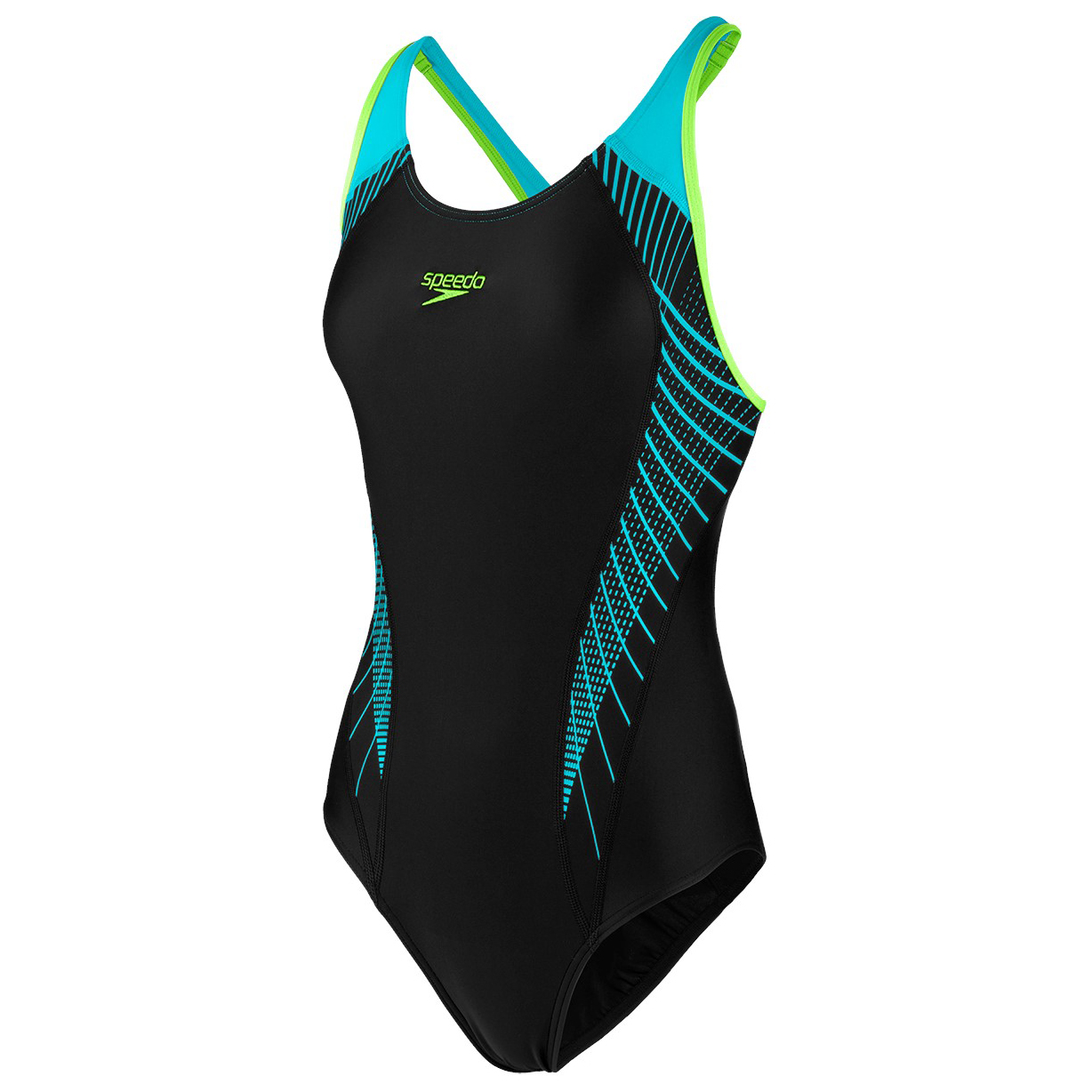 Black Traje Fit Laneback Speedo Bright De Women's Splash Baño Zest36eu Aqua Yf6gyvb7