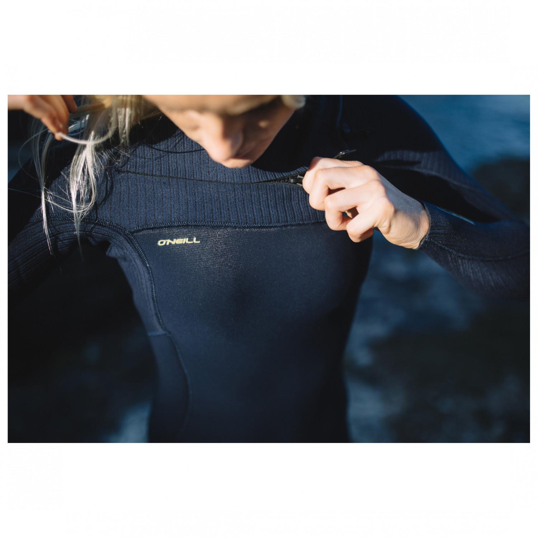 O;Neill Womens Hyperfreak 4//3mm Chest Zip Wetsuit Abyss Chest Zip Eintrag /über eine 360 Barrier mit Ablaufl/öchern
