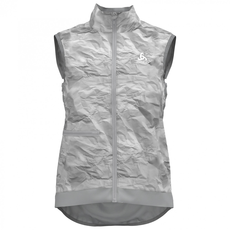 Vest Odlo Silver Women's Cycling Fujin Grey Paper PrintM lKF1TJc