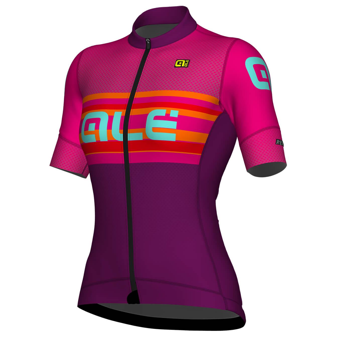 Alé Womans Ss Jersey R Ev1 Summer Radtrikot Purple Magenta L