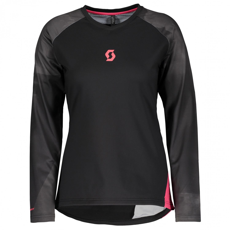 Black Scott Trail AS Long Sleeve Womens Cycling Jersey