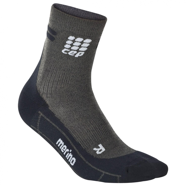 CEP - Women's Run Merino Short Cut Socks Anthracite / Black