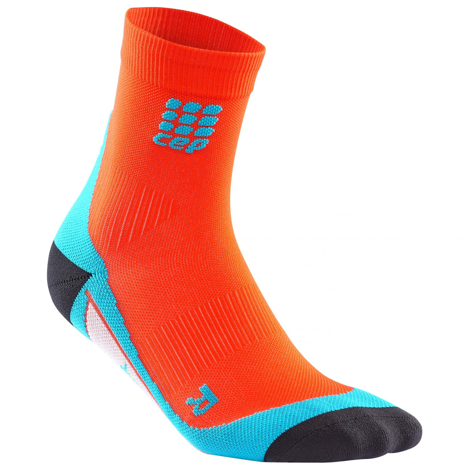 CEP - Short Socks - Kompressionssocken Sunset / Hawaii Blue