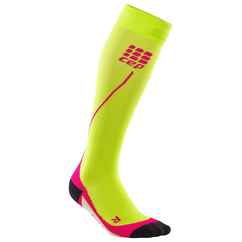 CEP - Women's Run Socks 20 - Kompressionssocken Lime / Pink
