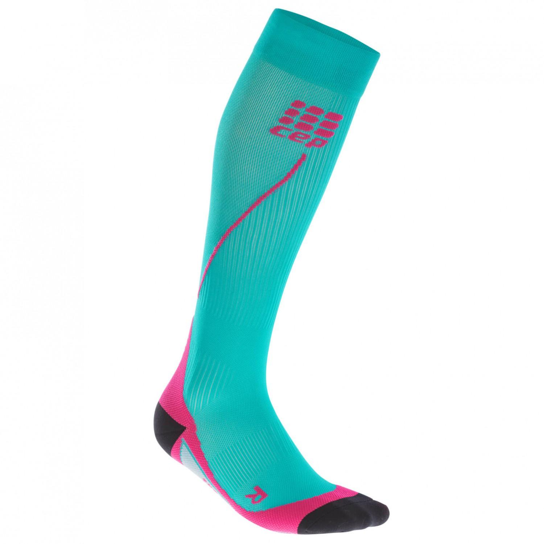CEP - Women's Run Socks 20 - Kompressionssocken Lagoon / Pink