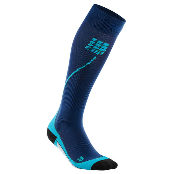 CEP - Women's Run Socks 20 - Kompressionssocken Deep Ocean / Hawaii Blue