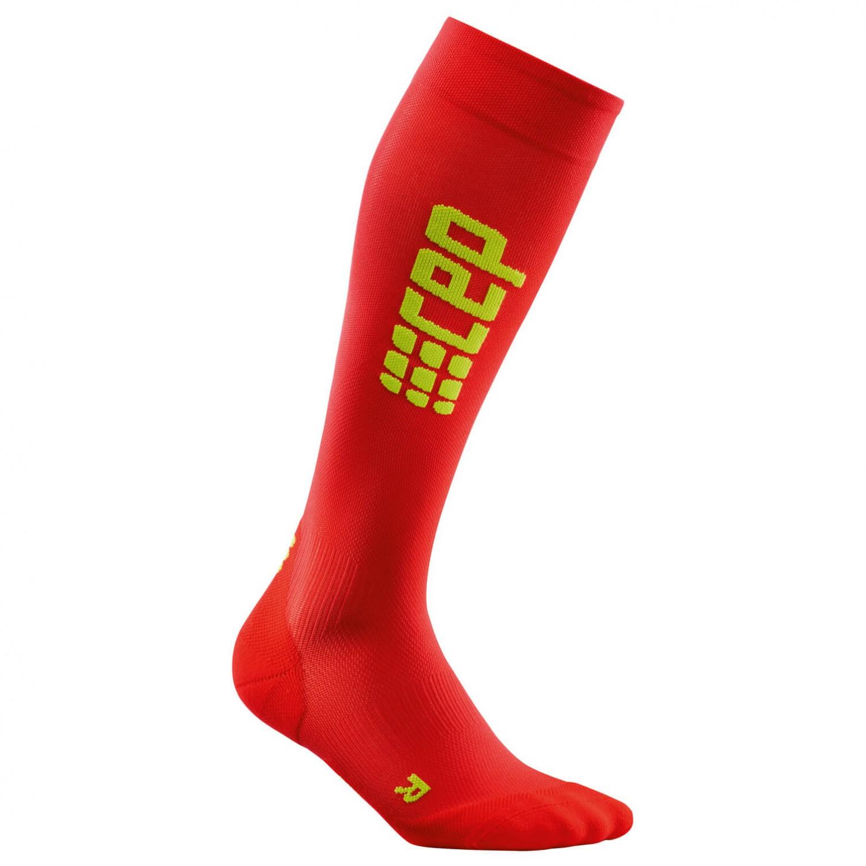 CEP - Run Ultralight Socks Green - Kompressionssocken Black / Green Socks deaefe