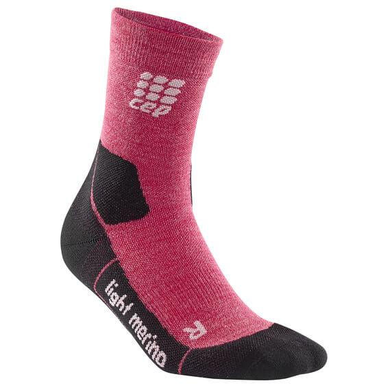 CEP - Women's CEP Dynamic+ Outdoor Light Merino Mid-Cut Sock Wild Berry