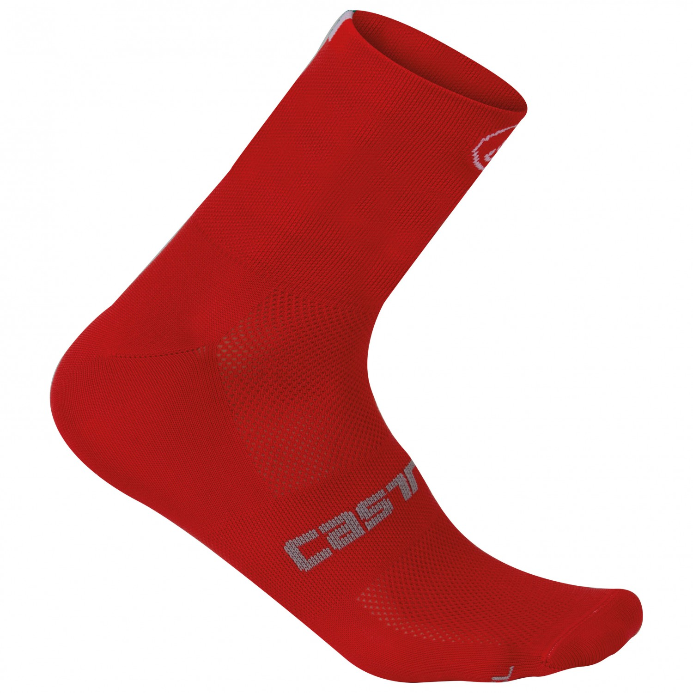 Castelli - Quattro 9 Sock - Radsocken Red