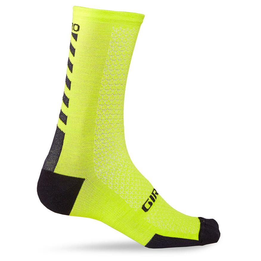 Giro - HRC + Merino Socks - Radsocken Bright Lime / Black
