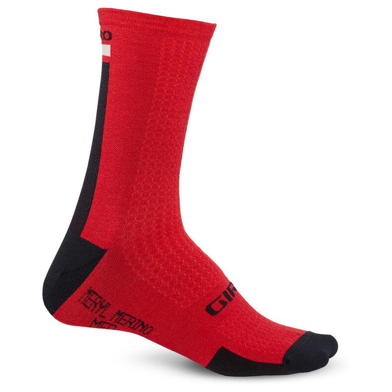 Giro - HRC + Merino Socks - Radsocken Red / Black / Grey